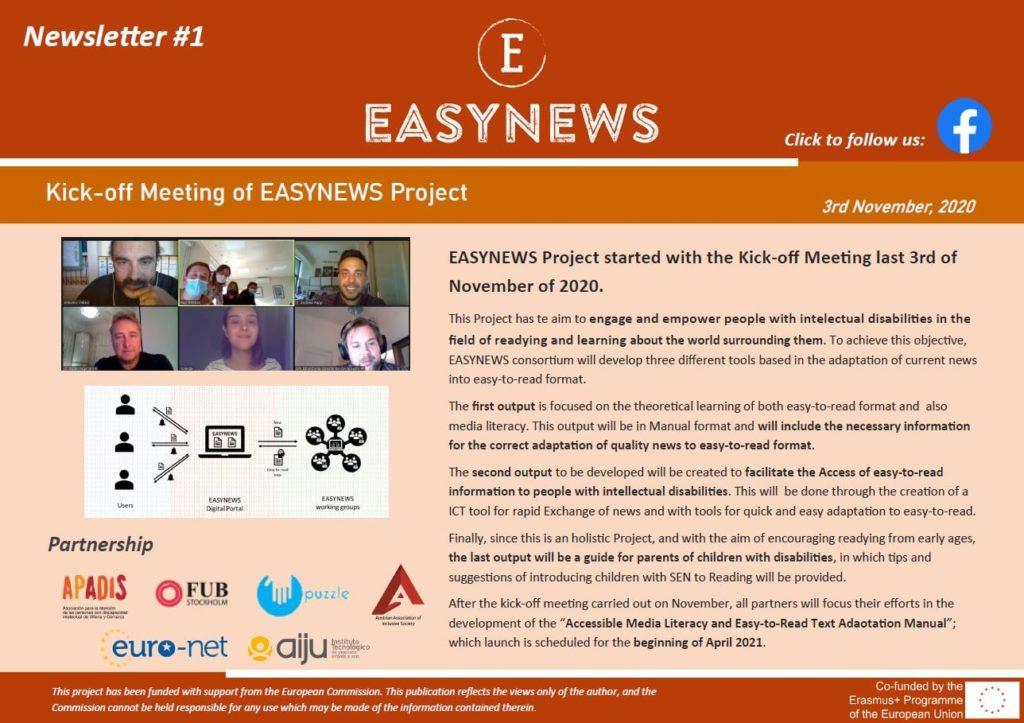 ¡Nuevo boletín Easynews!